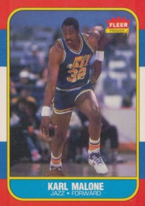 1986-87 Fleer Basketball Karl Malone RC
