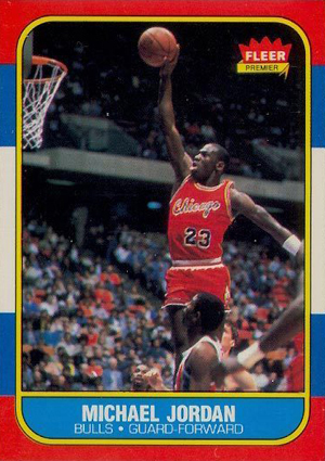 1986-87 Fleer Basketball Michael Jordan RC