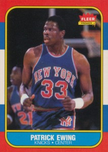 1986-87 Fleer Basketball Patrick Ewing RC