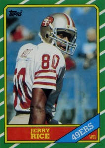 1986 Topps Football Jerry Rice RC