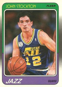 1988-89 Fleer Basketball John Stockton RC