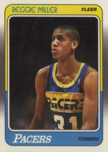 1988-89 Fleer Basketball Reggie Miller RC