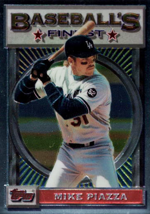 1993 Topps Finest Baseball Mike Piazza