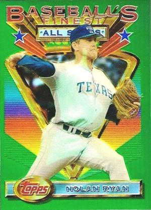 1993 Topps Finest Baseball Nolan Ryan Refractor