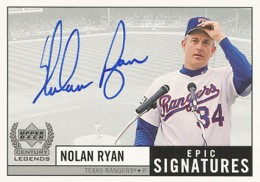 1999 Upper Deck Century Legends Epic Signatures Nolan Ryan
