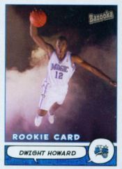 Dwight Howard Cards - 2004-05 Bazooka Dwight Howard RC