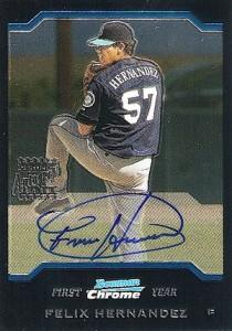 2004 Bowman Chrome Felix Hernandez RC Autograph