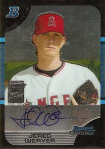 Jered Weaver Rookie Card Guide 1