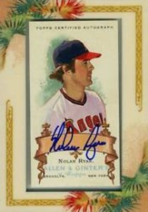 Nolan Ryan Cards - 2006 Topps Allen and Ginter Autographs Nolan Ryan