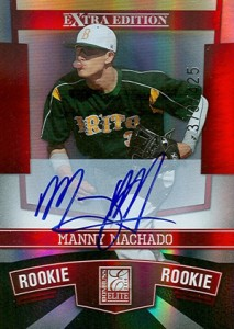 2010 Donruss Elite Extra Edition Manny Machado Auotgraph #/425
