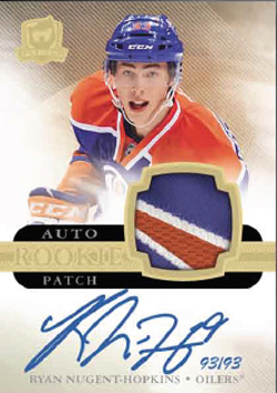 2011-12 Upper Deck The Cup Hockey Autographed Patch Rookies Gold Parallel Card