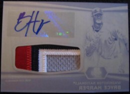 2012 Bowman Platinum Autographed Patch Press Plate Bryce Harper