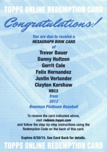 What's Hot in 2012 Bowman Platinum Baseball? 6