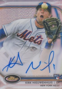 2012 Topps Finest Baseball Rookie Autographs Visual Guide 13
