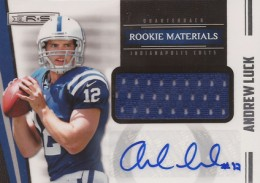 2012 Panini Rookies and Stars Rookie Materials Signatures 216 Andrew Luck