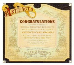Beware the Megatooth Shark! 2012 Topps Allen & Ginter Artifacts Revealed 1