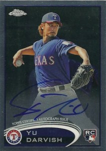 2012 Topps Chrome Baseball Autographs 151 Yu Darvish