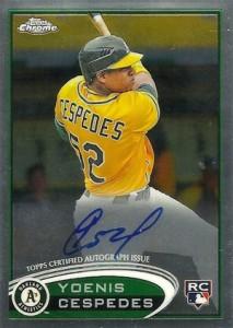 2012 Topps Chrome Baseball Autographs 180 Yoenis Cespedes