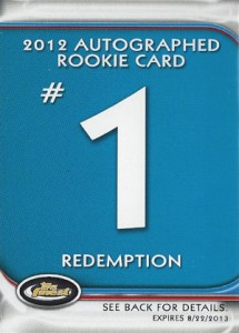 Jean Segura Named Fifth 2012 Finest Baseball Autograph Rookie Redemption 1