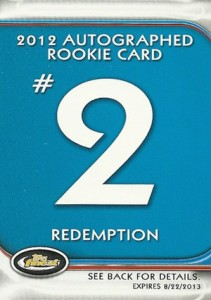 Jean Segura Named Fifth 2012 Finest Baseball Autograph Rookie Redemption 3