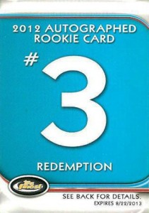 Jean Segura Named Fifth 2012 Finest Baseball Autograph Rookie Redemption 5