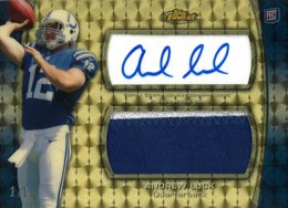 2012 Topps Finest Football Andrew Luck Superfractor Listed on eBay 1