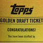 2012 Topps Football Golden Draft Tickets Give a Collector Their Own Rookie Card