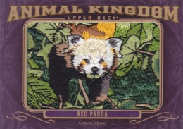 2012 Upper Deck Goodwin Champions Animal Kingdom Patch Cards AK-166 Red Panda