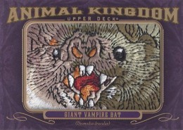 2012 Upper Deck Goodwin Champions Animal Kingdom Patch Cards AK-199 Giant Vampire Bat