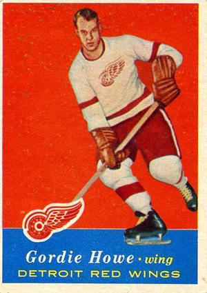 1957-58 Topps Hockey Gordie Howe