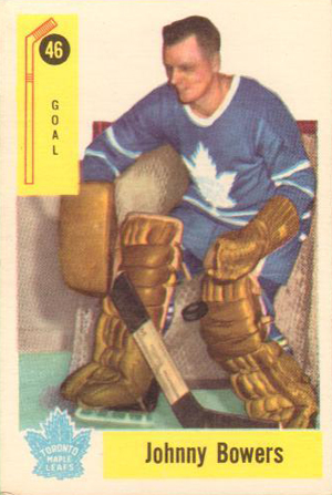1958-59 Parkhurst Hockey Johnny Bowers