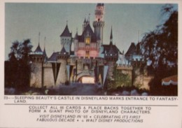 1965 Donruss Disneyland Puzzle Back 23