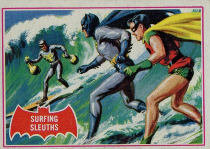 1966 Topps Batman A Series Red Bat Trading Cards 19