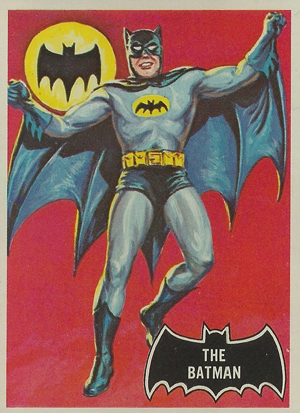 1966 Topps Batman Black Bat Card