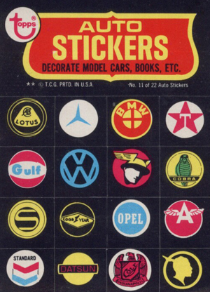 1974 Topps Evel Knievel Auto Stickers