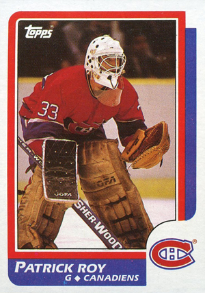 1986-87 Topps Hockey Patrick Roy RC