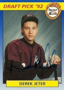 1992 Front Row Draft Picks Derek Jeter Autograph