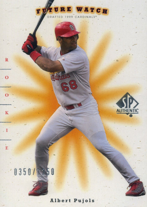 2001 SP Authentic Albert Pujols RC