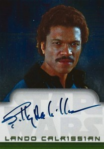 2001 Topps Star Wars Evolution Autograph Billy Dee Williams