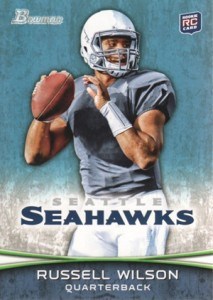 Russell Wilson rookie cards - 2012 Bowman Football Russell Wilson RC