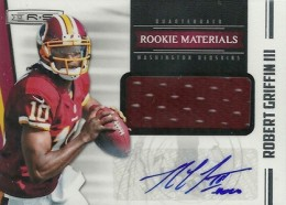 2012 Panini Rookies and Stars Rookie Materials Signatures 217 Robert Griffin III