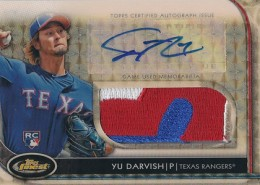 2012 Topps Finest Rookie Auto Patch Superfractor Yu Darvish