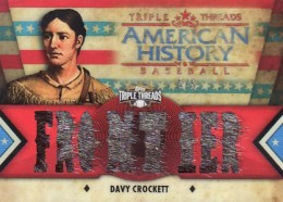 Davy Crockett Among Surprise Relics in 2012 Topps Triple Threads Baseball 1