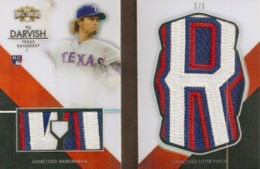 2012 Topps Triple Threads Baseball Yu Darvish By the Letter Book Card