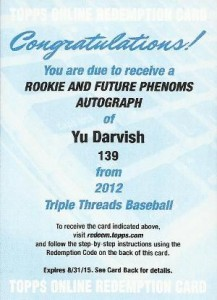 Yu Darvish Baseball Cards and Autograph Memorabilia Guide 18