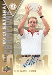 2012 Upper Deck University of Alabama Football Cards 5