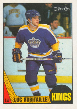1987-88 O-Pee-Chee Hockey Luc Robitaille RC