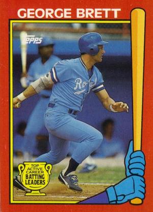 1989 Topps Baseball Batting Leaders George Brett