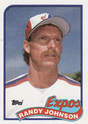 1989 Topps Baseball Randy Johnson RC