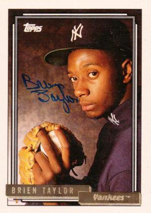 1992 Topps Baseball Brien Taylor Autograph